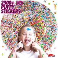 Sinceroduct Puffy Stickers for Kids,Novelty 64 Different Sheets Kids & Toddlers Mega Variety Pack - Over 2300 3D Puffy Stickers for Kids - Including Animals,Cars, Dinosaur, Fruits and More!