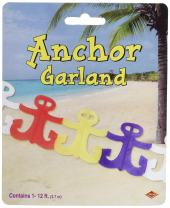 Beistle 55498 Anchor Garland, 6 Inches by 12-Feet, 1 Count, Multicolor