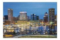 Baltimore, Maryland - Waterfront of Skyline from Federal Hill Baltimore 9020200 (19x27 Premium 1000 Piece Jigsaw Puzzle, Made in USA!)