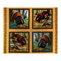 Fabric & Fabric QT s Turkey Hill Turkey 36'' Picture Patches Multi