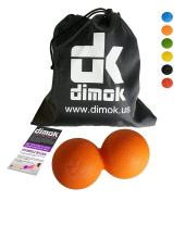 dimok Massage Balls Myofascial Release Pressure Trigger Point Therapy Feet Back Neck Roller Deep Tissue Massage Tools- Peanut Spiky Double Single Lacrosse Ball