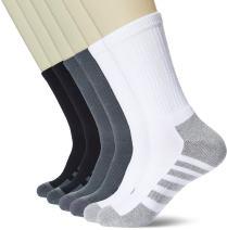 Kold Feet Men's Sport Athletic Socks Comfort Breathable Cushion Moisture Wicking Crew Boots Socks (6 pairs)