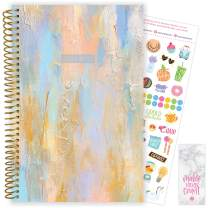 """bloom daily planners 2020-2021 Academic Year Day Planner (July 2020 - July 2021) Organizer & Calendar - Weekly/Monthly Dated Agenda Book with Stickers and Bookmark - 6"""" x 8.25"""" - Beach Glass"""