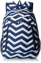 World Traveler Multipurpose Backpack 16-Inch, Navy White Chevron, One Size