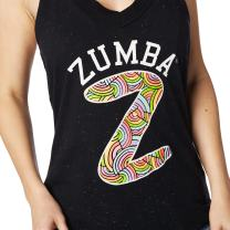 Zumba Sexy Fitness Dance Tanks Graphic Print Workout Halter Tank Tops for Women