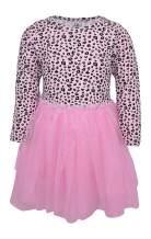 Unique Baby Girls Cheetah Animal Print Long Sleeve Tutu Dress