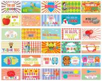 Creanoso Amazing Sayings Lunchbox Note Cards - Flashcards for Kids (120-Pack) - Mini Educational Information Cards Set – Unique Gift Set for Boys, Girls – School Home Rewards Incentives