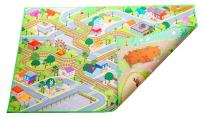 """Kids Double Sided Felt Play Mat - 2 in 1 Indoor/Outdoor, Machine Washable 59"""" L x 39"""" W… Save to Droplist Roll Over Image to Zoom in Kids Double Sided Felt Play Mat - (City/Farm)"""