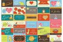 Lunch Box Notes for Kids - 60 Pack - Motivational Cards to put Love and Jokes in your Child's Lunch Box Bags - 30 Different Designs