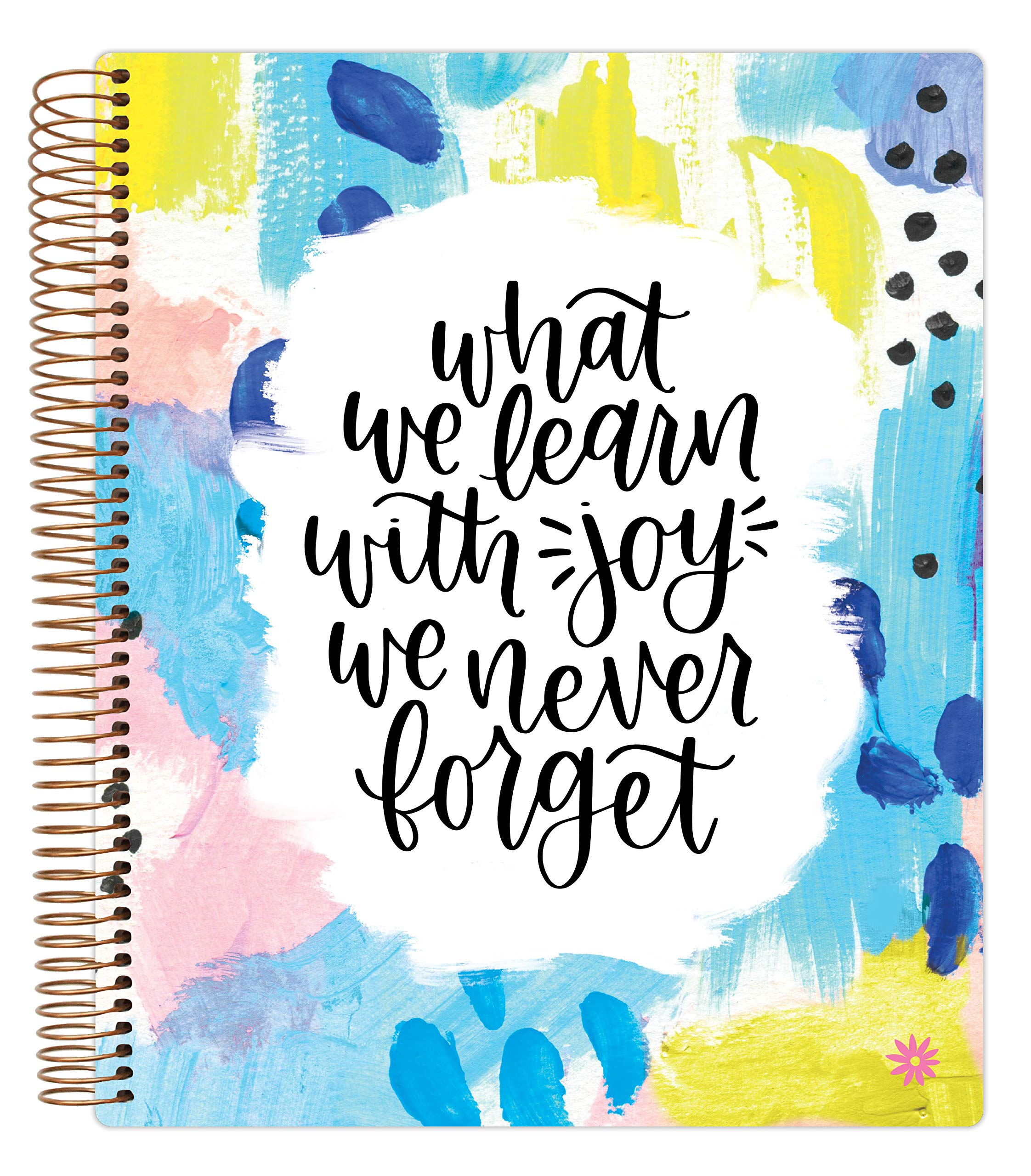 """bloom daily planners Undated Academic Year Teacher Planner & Calendar - Lesson Plan Organizer Book (9"""" x 11"""") - Learn with Joy"""