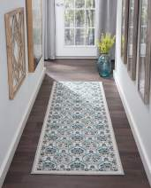 Tayse Robina Cream 2x8 Runner Area Rug for Kitchen, Entryway, Baby, or Nursery Room - Transitional, Floral