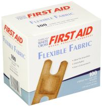 """American White Cross Fabric Adhesive Strips, Sterile, Lightweight, 1-1/2"""" x 3"""" Knuckle, 100/Box, 12 Box/Case (Pack of 1200)"""