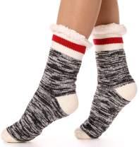 Womens Fuzzy Slipper Socks Warm Knit Heavy Thick Fleece lined Fluffy Christmas Stockings Winter Socks