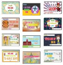 Creanoso Students Appreciate Your Teachers Postcards (36-Pack) – Appreciation Greeting Card Designs - Premium Gift Card Gift Tokens for Teachers and Students, Men Women, Teens – Cool Giveaways