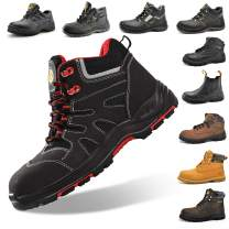 SAFETOE Composite Toe Work Boots for Men Women Waterproof Safety Boots Lightweight Industrial & Construction Work Shoes