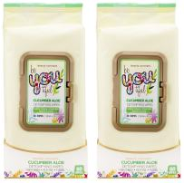 Beauty Concepts - 2 Pack (60 Count Each) Cucumber Aloe Facial Cleansing Wipes