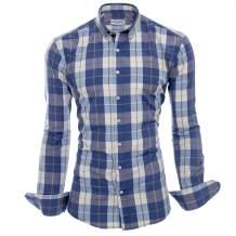 SUVARI Mens Dress Shirts Long Sleeve Slim Fit Business Dress Shirt for Men