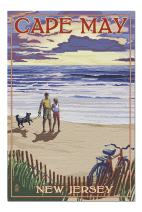 Cape May, New Jersey - Beach and Sunset (Premium 1000 Piece Jigsaw Puzzle for Adults, 20x30, Made in USA!)