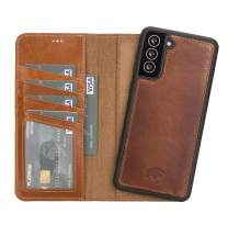 """BlackBrook by Burkley Case Samsung S21+ Plus Wallet Case - Carson Genuine Full Grain Leather Bi-Fold Detachable Wallet Case for Samsung Galaxy S21 Plus (6.7"""") - Magnetic Card Holder with Kickstand"""
