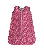 Bacati - Muslin Ikat Animal Prints Sleep Sack (Wearable Blankets) (Medium, Bright Pink/Grey)