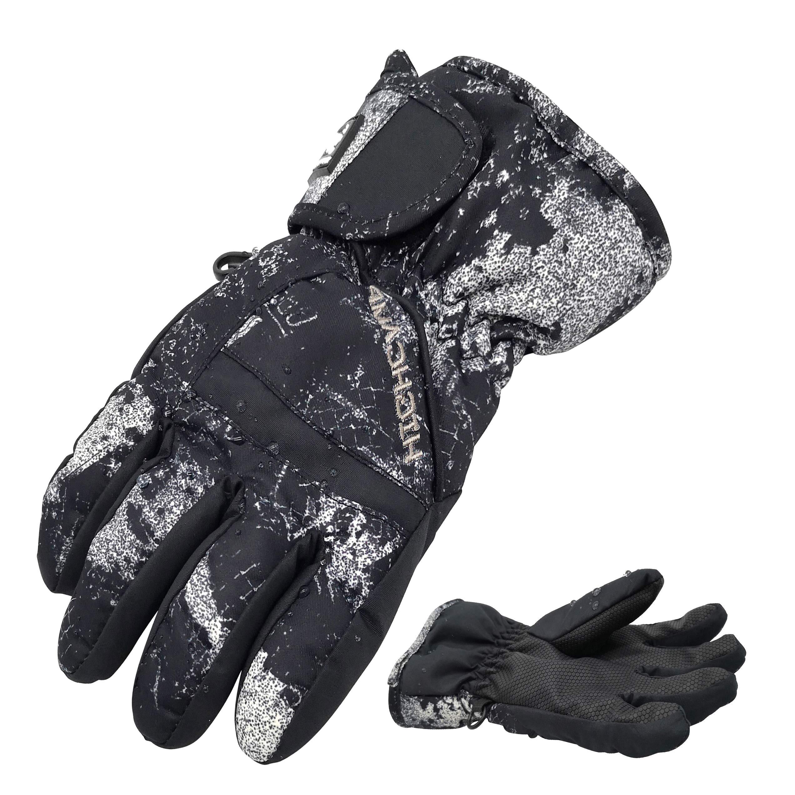 Highcamp Kids Boy Girl Waterproof Ski Snow Gloves Cold Weather Warm Winter Gloves