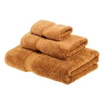 Superior 900GSM Towel Set, Face, Hand, and Bath, Rust, 3 Piece