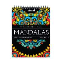 ColorIt Mandalas III Adult Coloring Book - 50 Single-Sided Designs, Thick Smooth Paper, Lay Flat Hardback Covers, Spiral Bound, USA Printed, Mandala Pages to Color