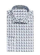 Men's Geometric Pattern Performance Shirt with Sweat Block Tech Morton
