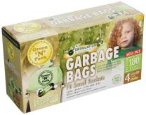 Green'N'Pack Small Garbage Bags, 4 Gallon, 180-Count,