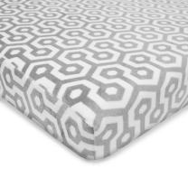 American Baby Company Heavenly Soft Chenille Fitted Pack N Play Playard Sheet, Gray Honeycomb, 27 x 39, for Boys and Girls