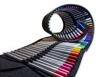OOKU Artist PRO Watercolor Pencils Set 72 Colors / 75 Pc Full Kit   Wet Water Color Pencils Set/Dry Coloring Pencils Set for Adults, Kids   w/BONUS Wool Pencil Wrap, Watercolor Brush, Sharpener