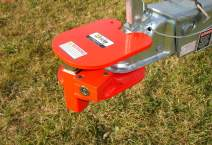 Equipment Lock BRHL Steel Ball and Ring Hitch Lock with Electro-plated and Powder Coated Finish