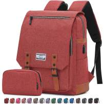 Travel Laptop Business Backpack, Anti Theft Water Resistant School Computer Bagpack Gifts for Men & Women,Fits 15.6 Inch Notebook with USB Charging Port Bonus a Small pencil Case, Deep orange red