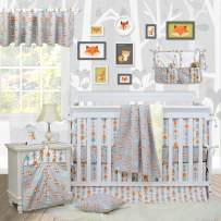 Brandream Woodland Crib Bedding Sets for Boys with Bumpers, Fox Arrow Baby Girl Nursery Bedding,Unisex,11 Pieces, 100% Hypoallergenic Cotton