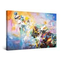 "Startonight Canvas Wall Art Abstract Painting Framed 32"" x 48"""