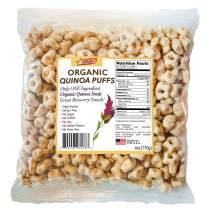Awsum Snacks Organic Quinoa Star Puffs Cereal 6 6oz bag Gluten Free Snacks Immune Support Puffed Quinoa Seeds Healthy Vegan Snacks Diabetic High Protein And Fiber Crunchy No Sugar Snack (6 packs)