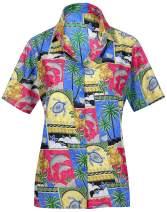 Women Hawaiian Shirt Beach Top Tank Casual Aloha Holiday Blouses Sport Boho