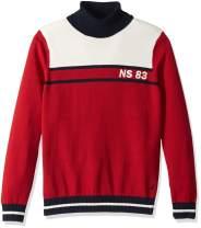 Nautica Men's Big and Tall Blocked Turtleneck Sweater
