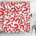 "Ambesonne Modern Shower Curtain, Question Marks Pattern Sketch Hand Drawn Creative Contemporary Design, Cloth Fabric Bathroom Decor Set with Hooks, 84"" Long Extra, Vermilion Ruby"