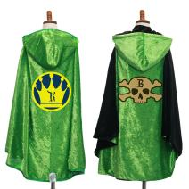 Everfan Personalized Hooded Cape for Kids | Child's Cloak with Hood for Cosplay | Customize with Emblem and Initial