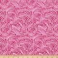 Benartex Cat-I-tude Beaded Swirls Tonal Pink Fabric by The Yard