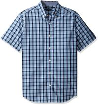 Nautica Men's Short Sleeve Large Plaid Button Down Shirt
