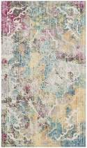 Safavieh Mystique Collection MYS921M Vintage Watercolor Multicolored Distressed Area Rug (3' x 5')