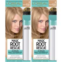 L'Oreal Paris Magic Root Rescue 10 Minute Root Hair Coloring Kit, Permanent Hair Color with Quick Precision Applicator, 100% Gray Coverage, 8 Medium Blonde, 2 count