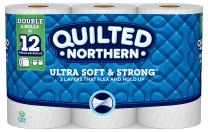 Quilted Northern Ultra Soft and Strong Toilet Paper, Double Rolls, 6 Count of 164 2-Ply Sheets Per Roll