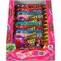 Juicy Drop Pop Sweet Lollipops Candy with Sour Liquid, Assorted Sweet & Sour Flavors, 21 Count