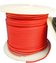 Ajax Scientific PVC Solid Wire Hook-Up, 22AWG, 30m Length, Red