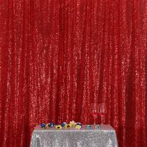 Poise3EHome 5FT x 7FT Sequin Photography Backdrop Curtain for Party Decoration, Red