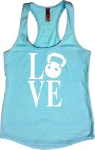 Womens Workout Tank Tops - Kettlebell Love - Crossfit Clothes