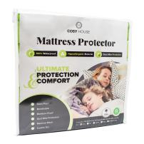 Waterproof Mattress Protector for Crib & Toddler Size Beds - Hypoallergenic - Soft Breathable & Noiseless Fitted Cover Stays Quiet, Cool & Dry - Protects Against Stains, Fluids, Allergens, Bacteria